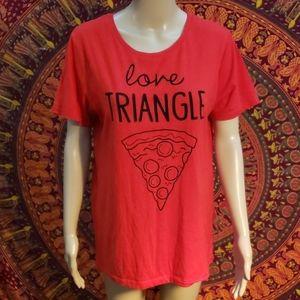 Freeze Pizza love triangle T-shirt size large